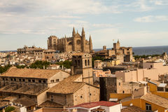 Panorama of Palma de Mallorca. Palma de Mallorca, panoramic view from a terrace Stock Image