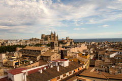 Panorama of Palma de Mallorca. Palma de Mallorca, panoramic view from a terrace Stock Photography