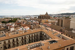 Panorama of Palma de Mallorca. Palma de Mallorca, panoramic view from a terrace Royalty Free Stock Photo