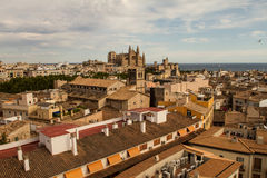 Panorama of Palma de Mallorca. Palma de Mallorca, panoramic view from a terrace Stock Photography