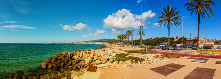 Panorama of Palma de Mallorca, Spain Royalty Free Stock Images