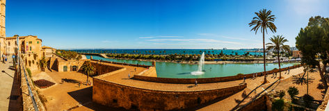 Panorama of Palma de Mallorca, Spain. Panorama of Palma de Mallorca. Palma is capital and largest city of autonomous community of Balearic Islands in Spain. It Stock Photography