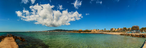 Panorama of Palma de Mallorca, Spain. Panorama of Palma de Mallorca. Palma is capital and largest city of autonomous community of Balearic Islands in Spain. It Royalty Free Stock Photo