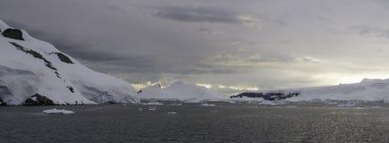 Panorama Palmer Archipelago, Antarctica Stock Photo