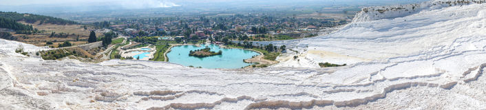 Panorama of Pamukkale Stock Photos
