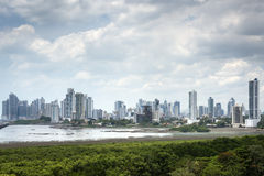 Panorama of Panama city Royalty Free Stock Photos