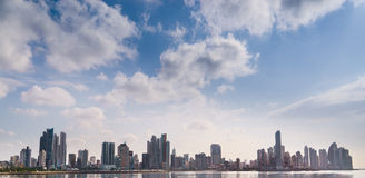 Panorama panama city skyline building sea Stock Images