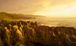 Panorama Of Pancake Rocks In The Scenic Mountains Concept Royalty Free Stock Photos
