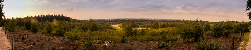 Panorama. Pano of quarry in Rhenen, Netherlands stock photography
