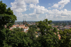 Panorama. Panoramic view of the cathedral Stock Image