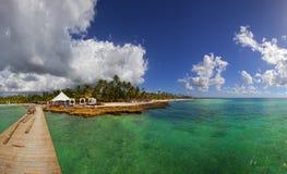 Panorama of Paradise Beach Stock Photo