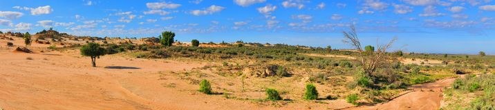 Panorama - parc national de mungo, NSW, Australie Images libres de droits