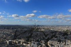 panorama paris Arkivbild