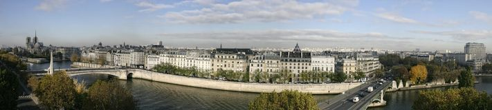 panorama paris Royaltyfri Fotografi