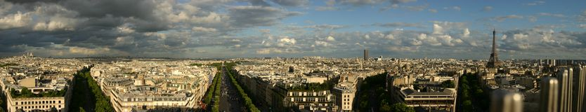 panorama paris Royaltyfri Bild
