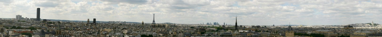 panorama paris Arkivfoto