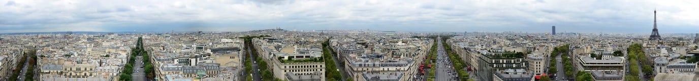 Panorama- Paris Royaltyfri Foto