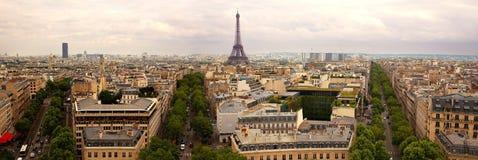 Panorama- Paris Arkivfoton