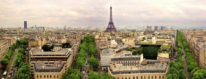 Panorama- Paris Arkivbild