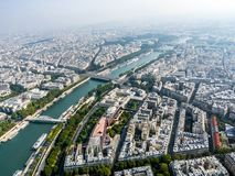 panorama paris Royaltyfria Bilder