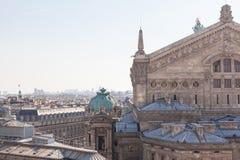 panorama paris Arkivfoton