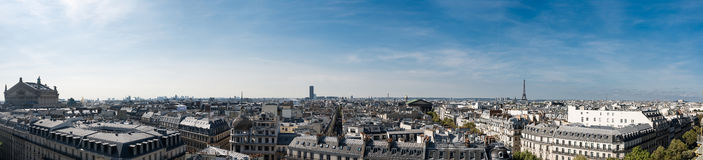 panorama paris Royaltyfri Bild