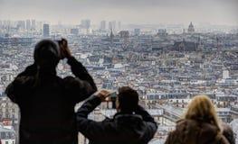 panorama paris Arkivfoto