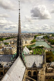 Panorama of Paris from the cathedral tower Notre Dame de Paris. Stock Image