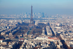 Panorama of Paris with eiffel tower Royalty Free Stock Photo