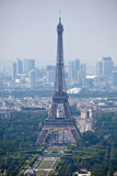 Panorama of Paris with eiffel tower Stock Photography