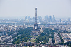 Panorama of Paris with eiffel tower Stock Image