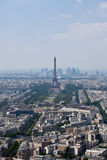 Panorama of Paris with eiffel tower Royalty Free Stock Images