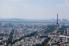 Panorama of Paris with eiffel tower Royalty Free Stock Image