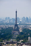 Panorama of Paris with eiffel tower Stock Photos