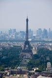 Panorama of Paris with eiffel tower Stock Photos