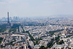 Panorama of Paris with eiffel tower Stock Images