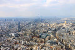 Panorama of Paris with Eiffel tower Stock Photo