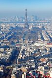 Panorama of Paris with eiffel tower at winter Stock Photo
