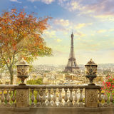 Panorama of Paris. France, Eiffel Tower, cityscape royalty free stock photos