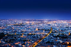 Panorama of Paris, France Royalty Free Stock Images