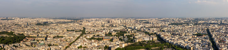 Panorama of Paris from Maine-Montparnasse Tower Royalty Free Stock Photography