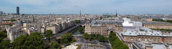 Panorama of Paris from Notre Dame Royalty Free Stock Photo