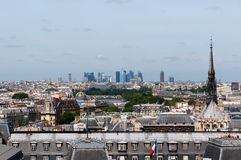 Panorama of Paris from Notre Dame Stock Photography
