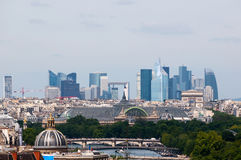 Panorama of Paris from Notre Dame Royalty Free Stock Photography