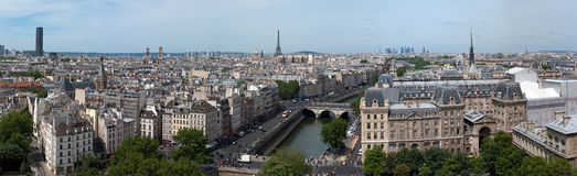 Panorama of Paris from Notre Dame Royalty Free Stock Photos