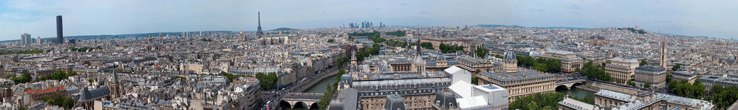 Panorama of Paris from Notre Dame Stock Images