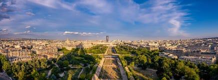 panorama paris olympiad Arkivbilder