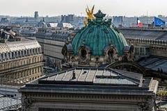 Panorama of Paris with Opera Garnier cupola Stock Photography