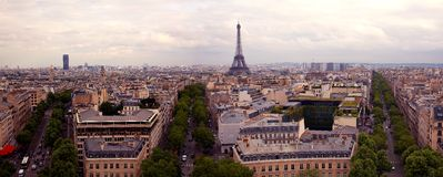 Panorama paris Stock Photo