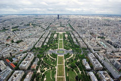 panorama- paris sikt Royaltyfria Foton